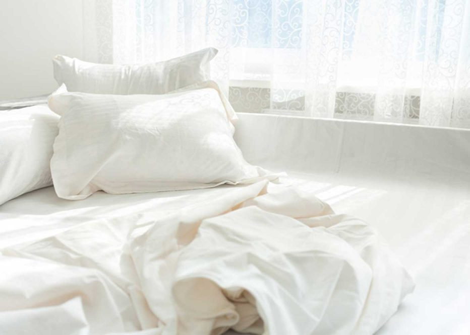 How do I care for my bed sheets and linens?